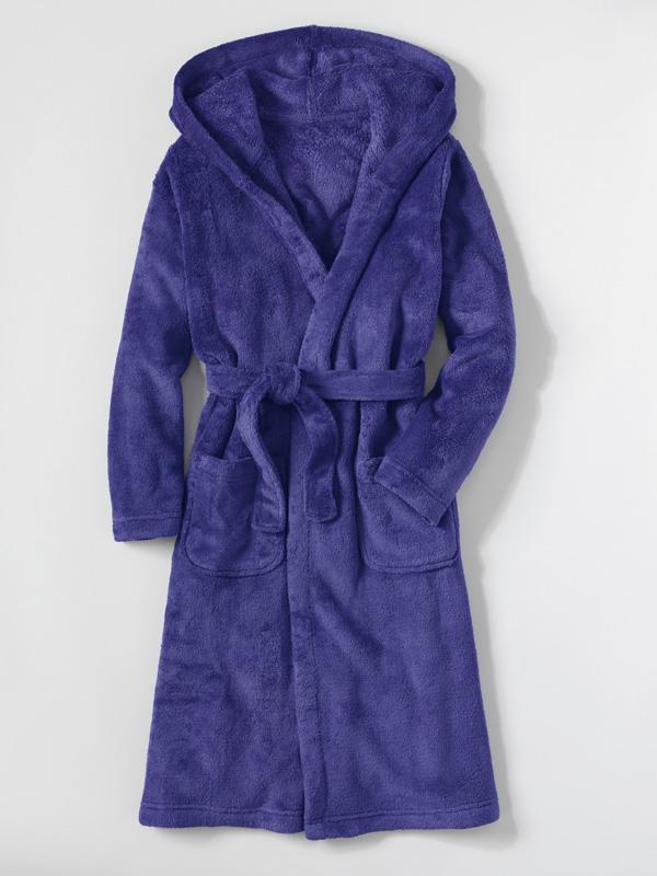 Lands' End Girls Fleece Hooded Robe