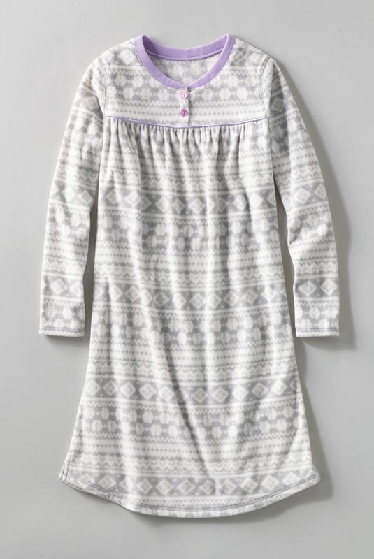 Lands' End Girls Fleece Gown