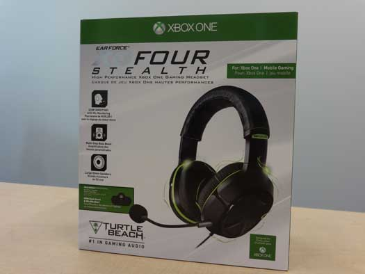 Ear Force® XO FOUR Stealth gaming headset marketed for use with Xbox One systems