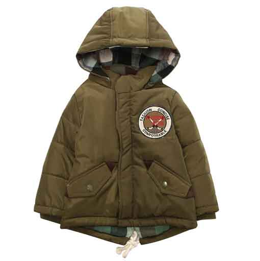 Padding Jacket with Hood RH1332-C (Dark Green)