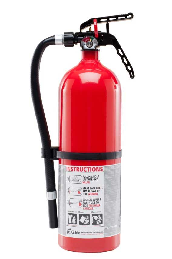 Recalled Kidde disposable plastic fire extinguishers