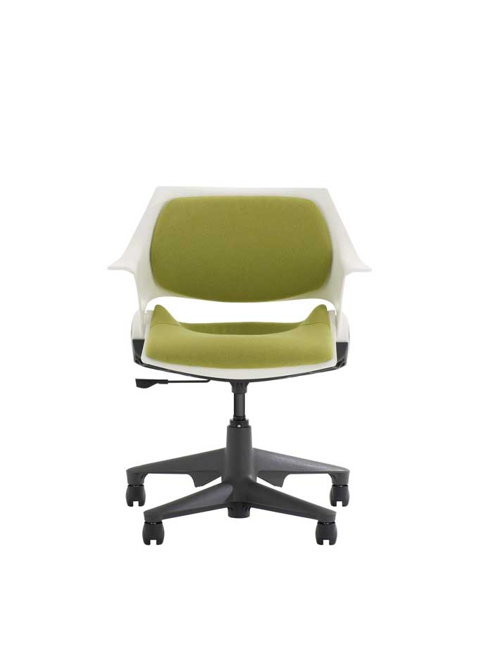 Steelcase swivel chair 1 (green)