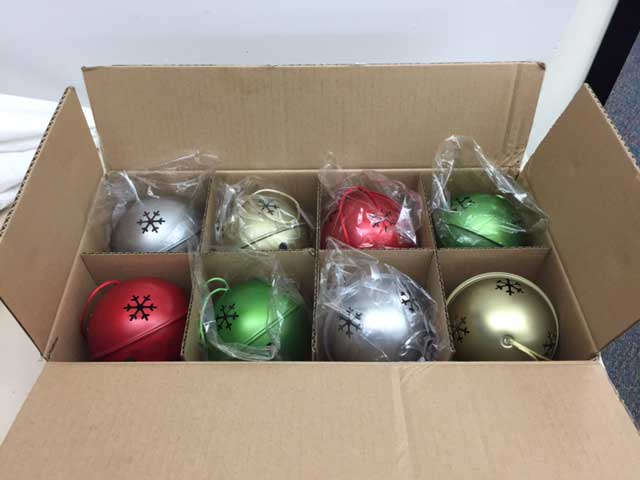 Cheryl & Co. Jingle Bell ornament box set of 8