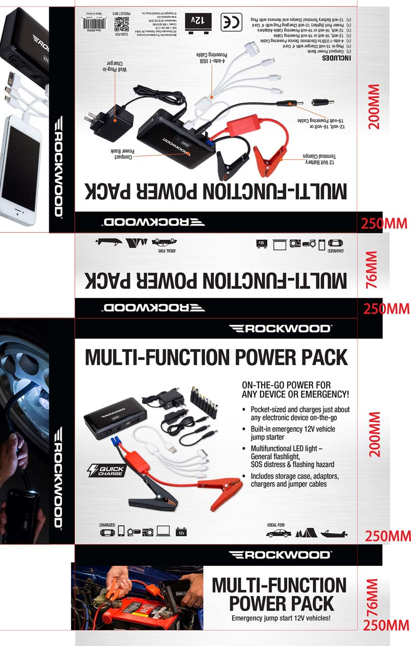 Packaging on recalled power pack