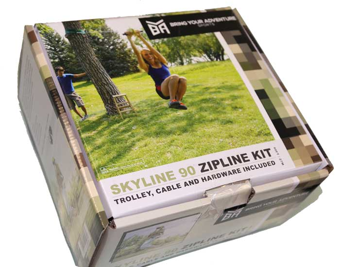 BYA Skyline 90-ft backyard zipline kit