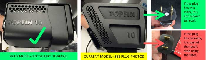 united pet group recalls top fin power filters for aquariums | cpsc.gov
