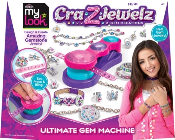 My Look Cra-Z-Art Cra-Z-Jewelz Gem Creations Ultimate Gem Machine (UPC #884920466340)