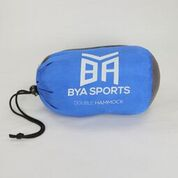 BYA Sports hammock in blue stuff sack