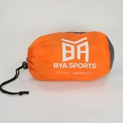 BYA Sports hammock in orange stuff sack