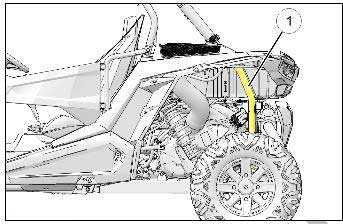 The VIN is on the driver's side rear frame rail, above the PVT cover.