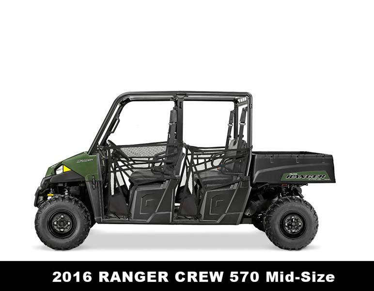 Recalled Polaris 2016 Ranger Crew 570 ROV