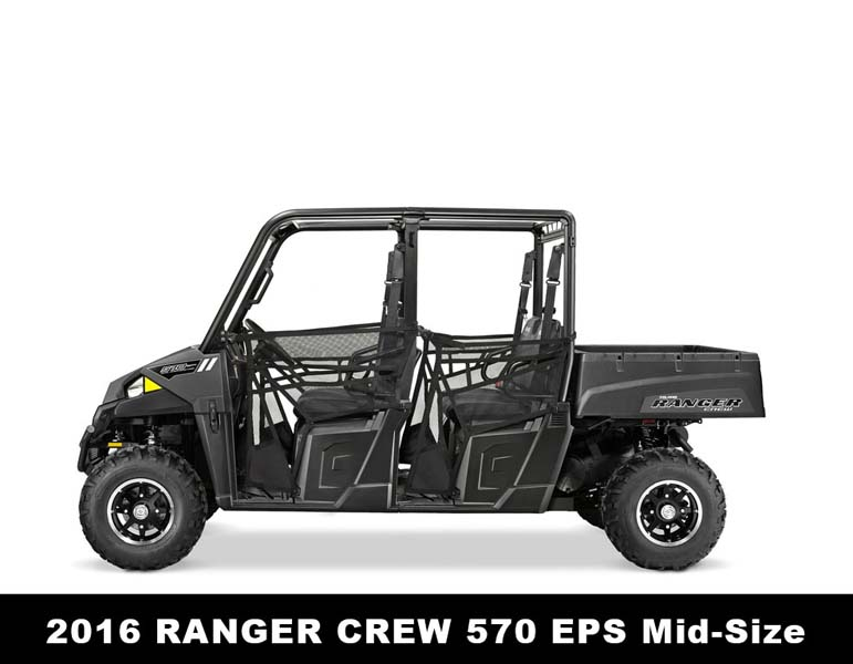 Recalled Polaris 2016 Ranger Crew 570 EPS ROV