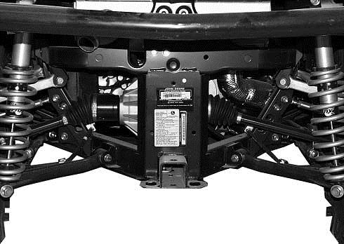 Serial number located at the rear of the machine above the hitch