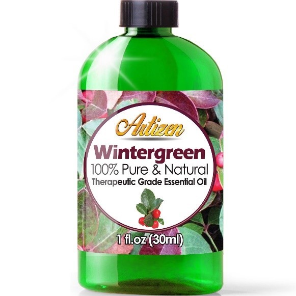 Recalled 1-ounce bottle of Wintergreen essential oil