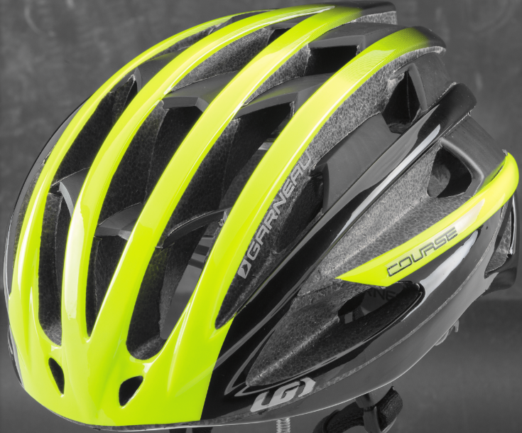 Recalled Louis Garneau Course Helmet in matte yellow