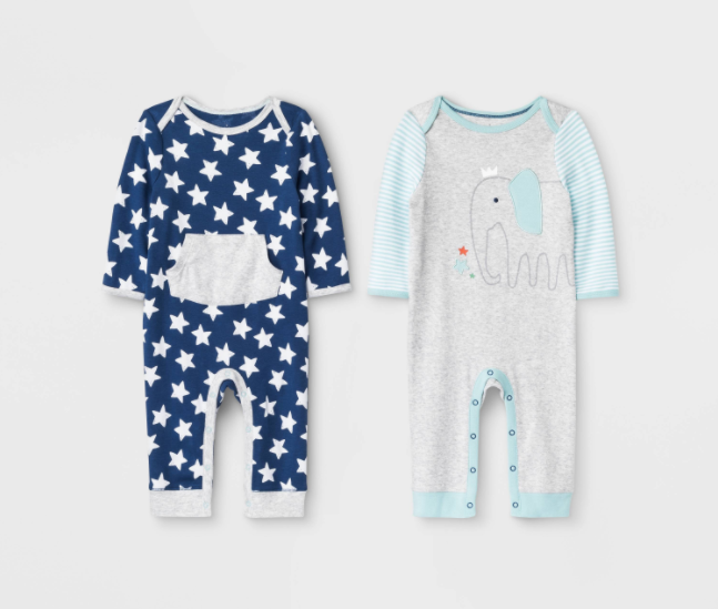 "Recalled Cloud Island ""Little Peanut"" and True Navy Rompers"