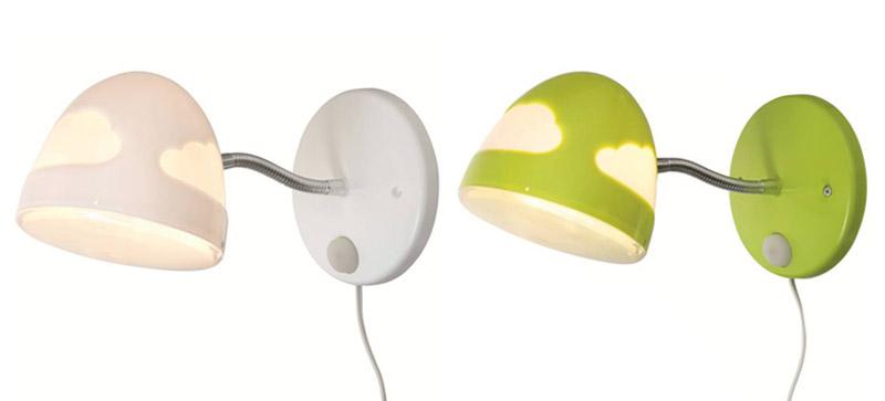 Lámparas para niños de montaje en pared SKOJIG