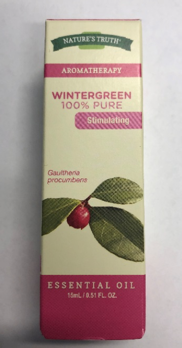 Nature's Truth wintergreen 100% pure essential oil –packaging