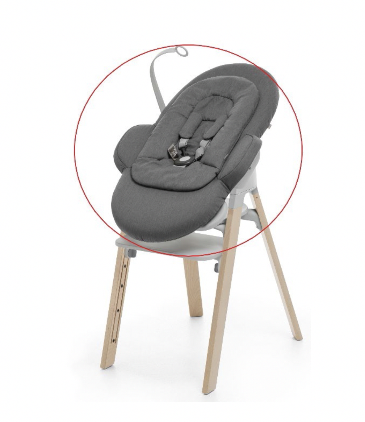 Stokke Steps Chair used with recalled bouncer