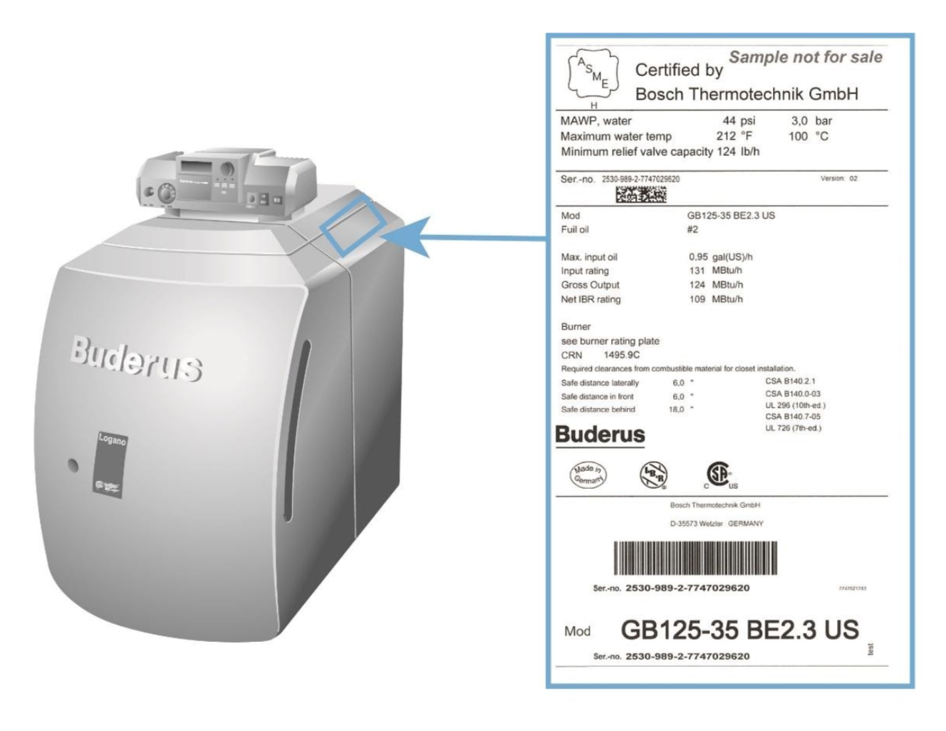 image of Buderus GB125-35 oil-condensing boilers