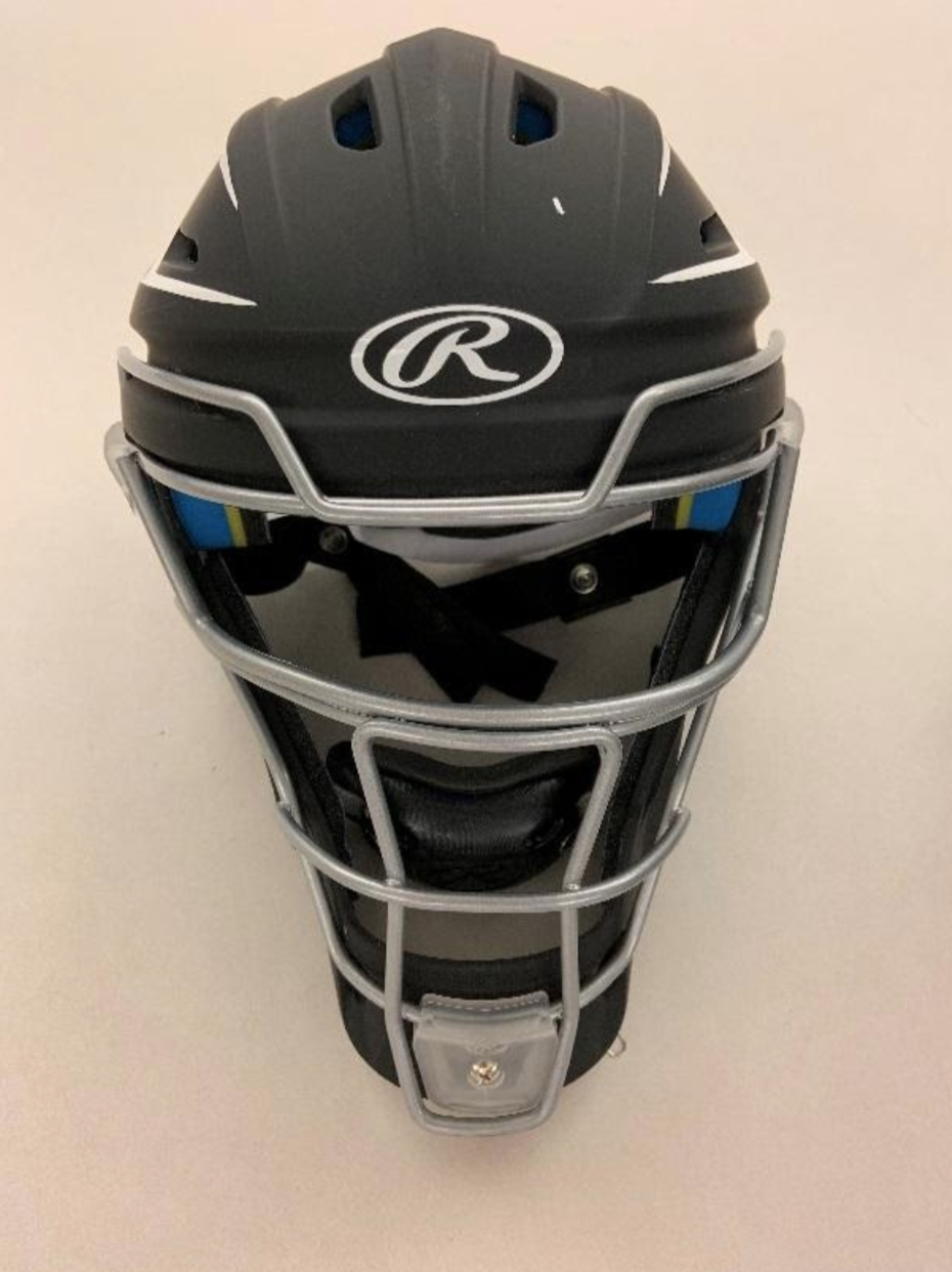Recalled CHMACH-SR Senior Catchers helmet (front view)