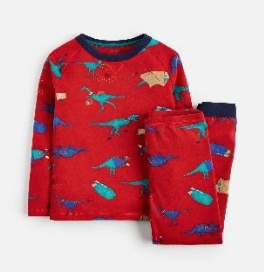 Z_ODRKIPWLL-REDDINO Red pajama with dinosaur print  97% cotton 3% elastane 1 through 12