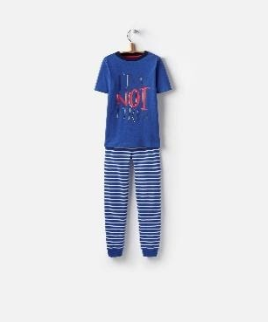 Y_ODRKIPWELL-DAZZBLU Blue short sleeved pajama  97% cotton 3% elastane 1 through 12