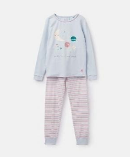 204649-BLUMOONBAK Blue and pink pajama with moon print  96% cotton 4% elastane 1 through 12