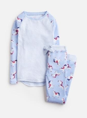Z_ODRSLEPWL-SKBLUNI Blue pajama with unicorn print  97% cotton 3% elastane 1 through 12