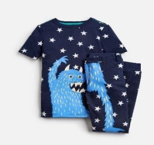 205153-NVSTRMNSTR Navy pajama with monster image  97% cotton 3% elastane 1 through 12