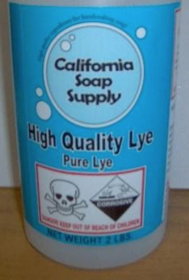 Recalled California Soap Supply Lye
