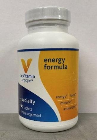 Recalled Vitamin Shoppe Energy Formula Multivitamins (90 Tablets)