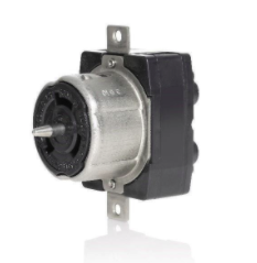 image of Leviton 50 ampere, non-NEMA electrical connectors, plugs, receptacles and inlets