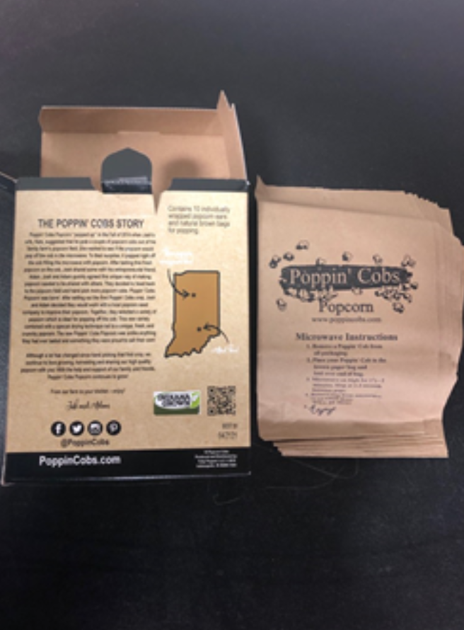Recalled Poppin' Cobs back of box and bags
