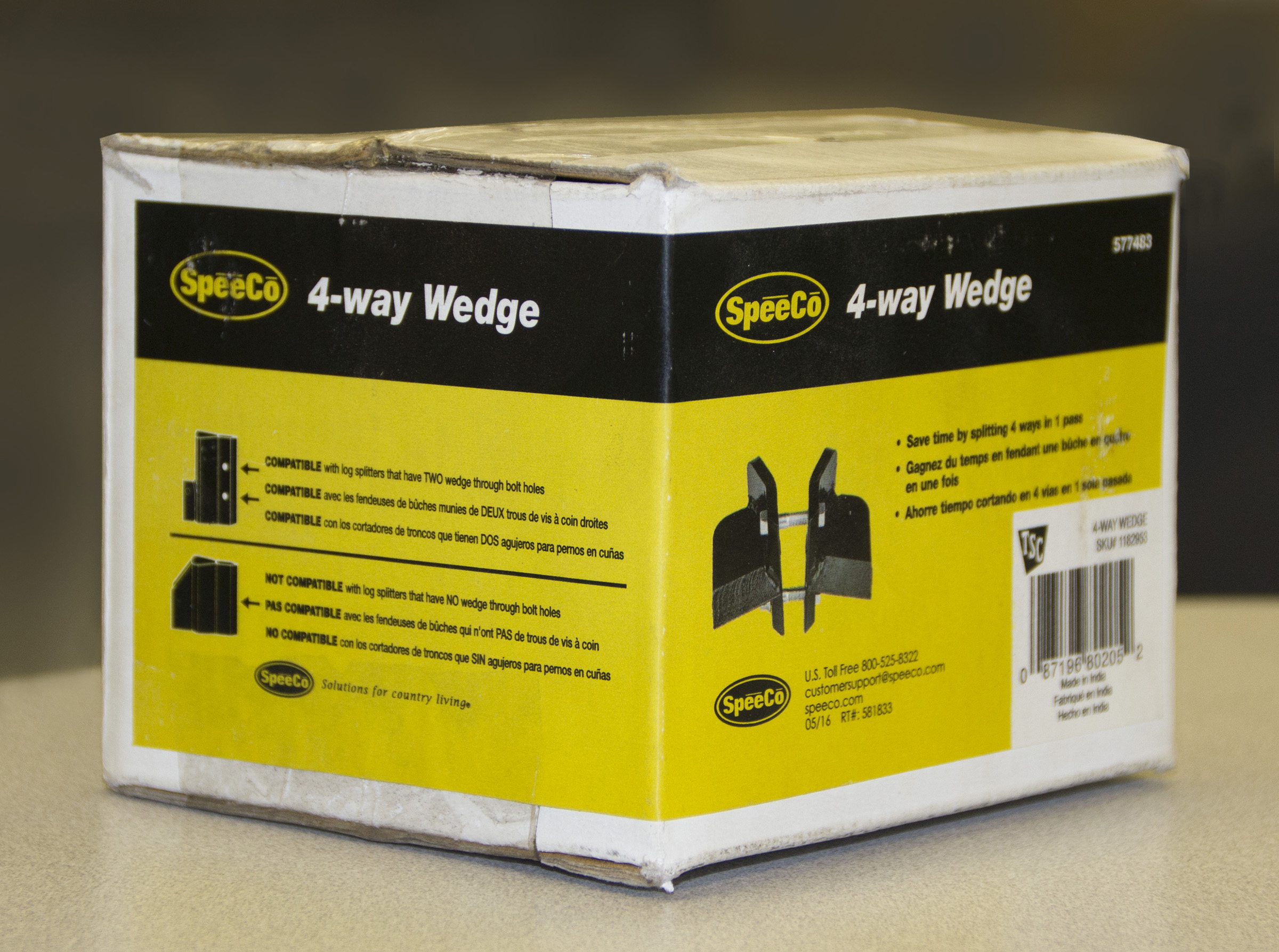 SpeeCo® and Woods® Recall 4-Way Wedge Accessory for Log Splitters