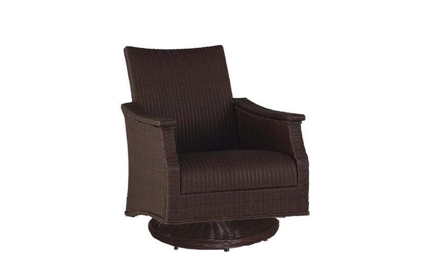 Bentley Swivel Rocking Lounge Chair in Black Walnut finish
