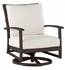Charleston Swivel Rocking Lounge Chair in Mahogany finish