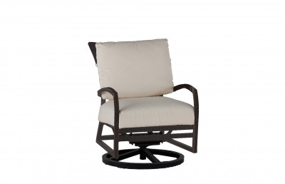Skye Swivel Rocking Lounge Chair in Black Walnut finish