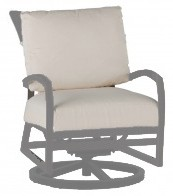 Skye Swivel Rocking Lounge Chair in Oyster finish