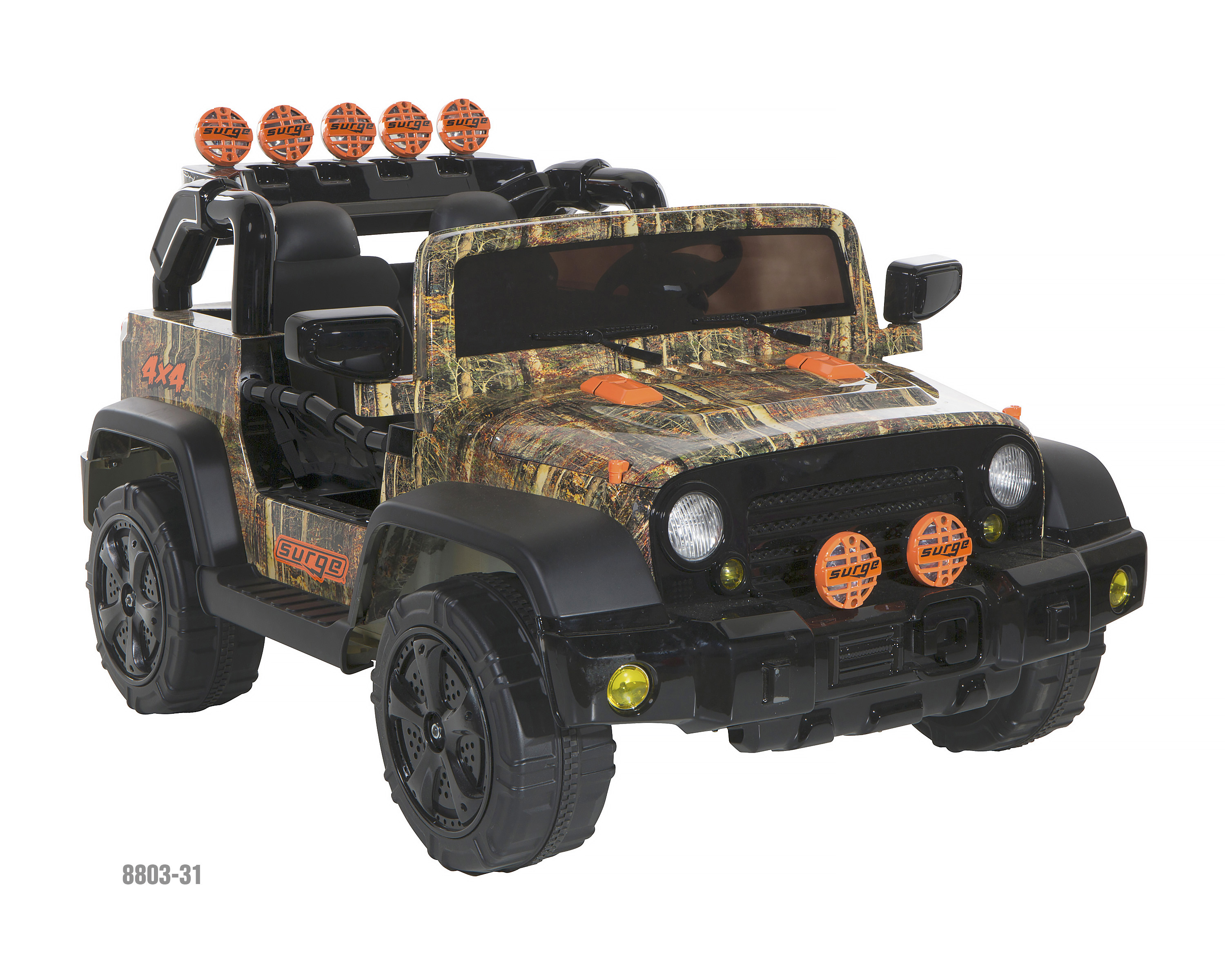 Surge 12V Camo 4X4 battery operated ride-on toy, model number 8803-31