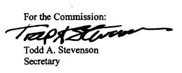 Signature of Todd A. Stevenson, Secretary