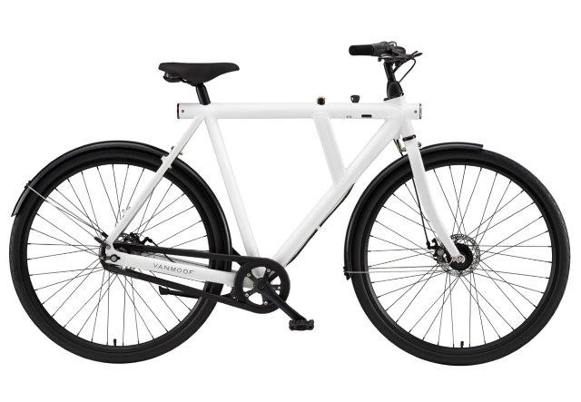 VanMoof B-series city bicycles: 3 speed diamond frame with integrated lock