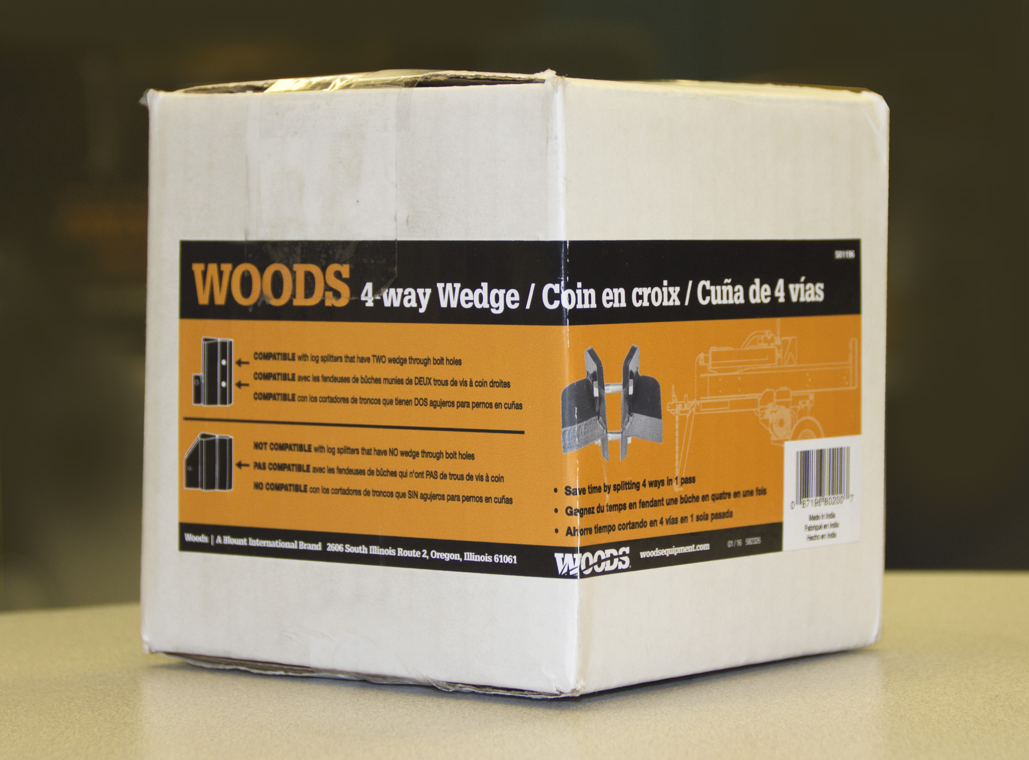 SpeeCo® and Woods® Recall 4-Way Wedge Accessory for Log