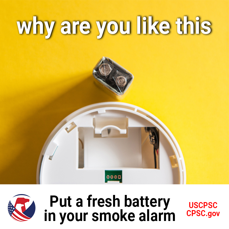 why are you like this, put a fresh battery in your smoke alarm