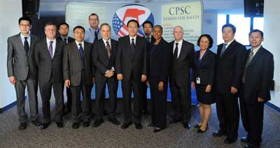 Ms. Patricia H. Adkins & Chen Gang at CPSC Headquarters