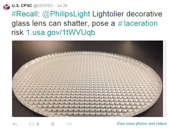 Sample of a CPSC Tweet