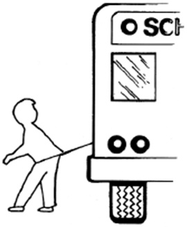 Drawstring caught on school bus
