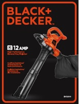 Packaging for the BLACK+DECKER model BV5600
