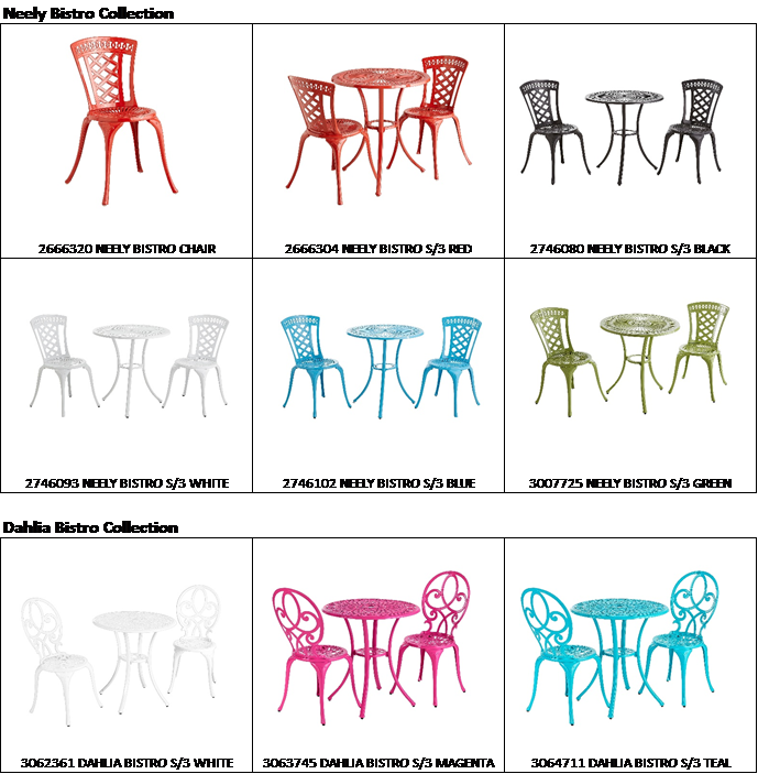 image of Neely and Dahlia Bistro Chairs