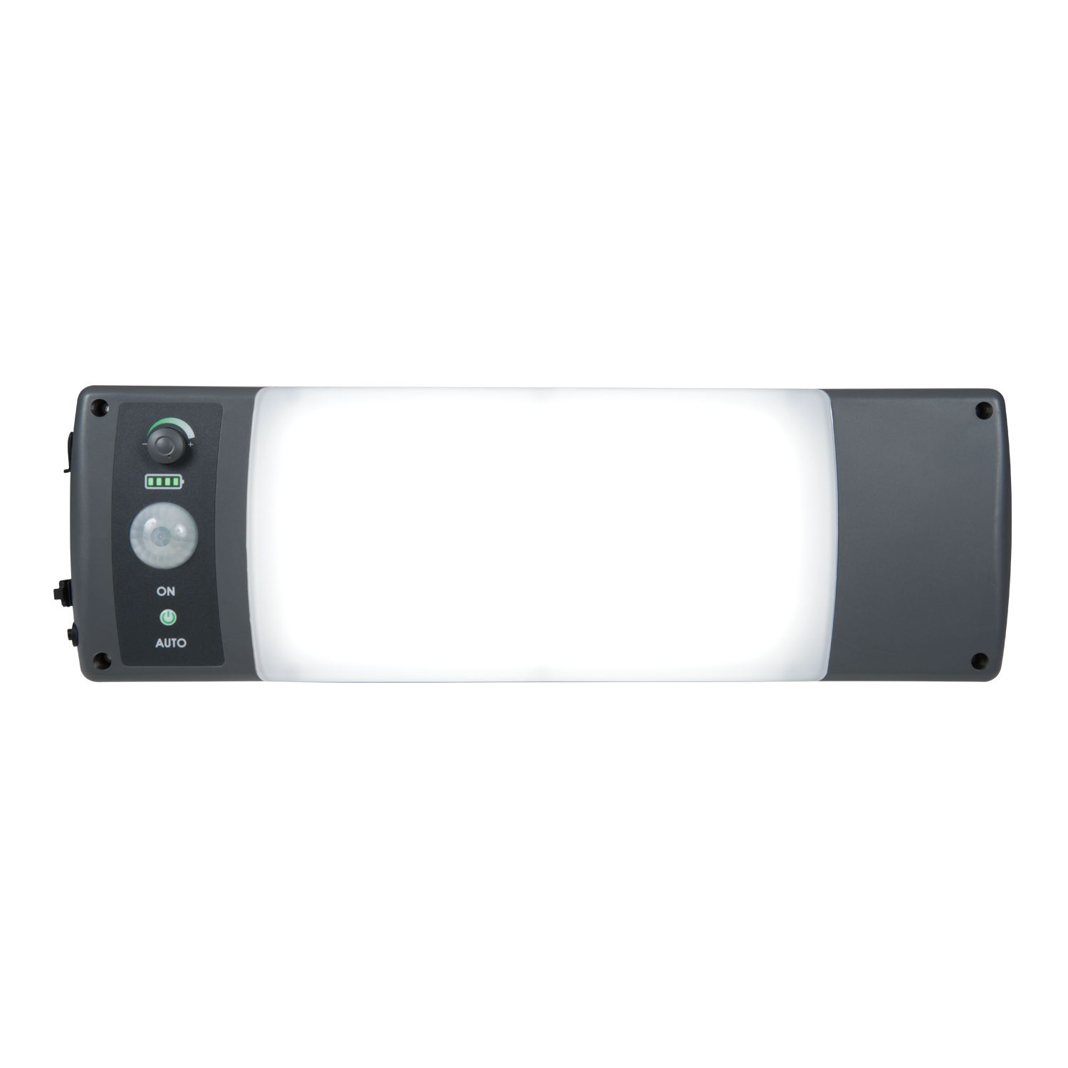 The recalled ALL-Pro WPS2040M solar-powered motion-activated outdoor LED light.  Includes a solar panel that is connected by wire to the fixture.